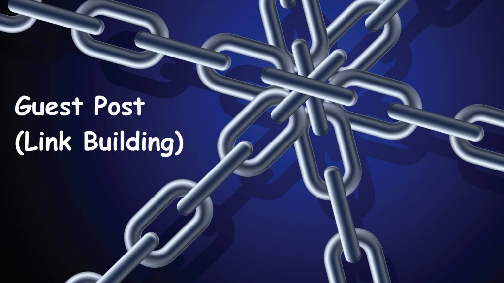 Link building through guest posting