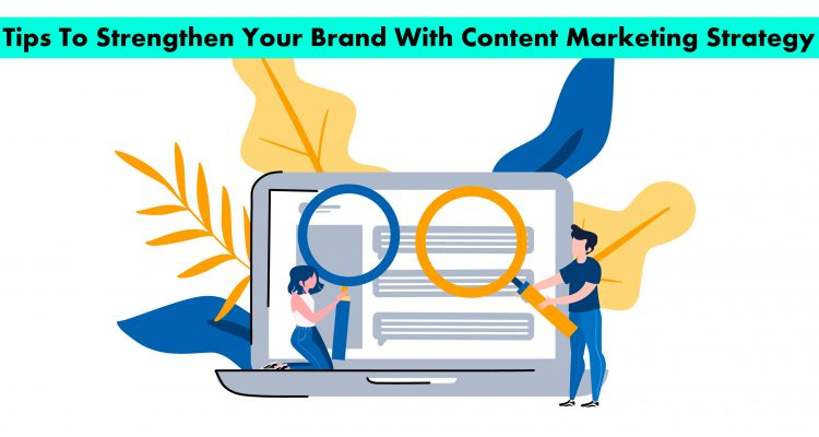 Vector image showing content marketing illustration