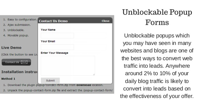 Use unblockable popups
